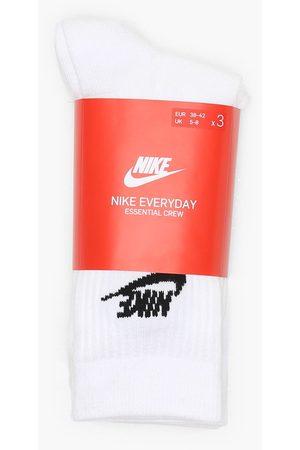 Nike Miehet Sukat - U Nk Nsw Evry Essential Crew Sukat White