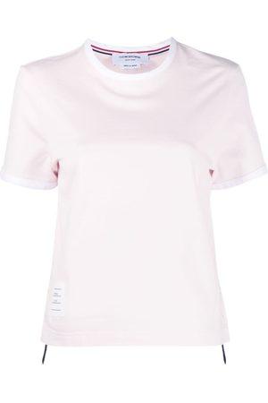 Thom Browne Naiset T-paidat - Asymmetric hem short-sleeve T-shirt