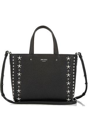 Jimmy Choo Naiset Ostoskassit - Pegasi star-embellished textured-leather tote
