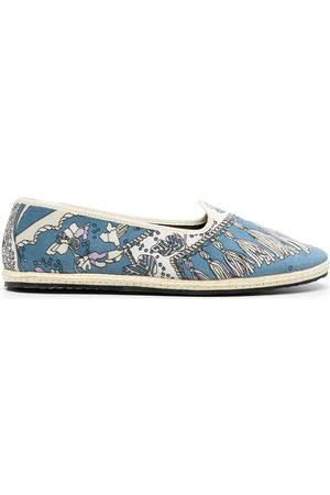 Emilio Pucci Naiset Tohvelit - Rugiada-print slippers