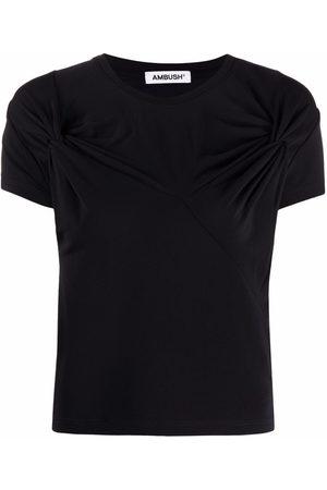 AMBUSH Naiset T-paidat - Twist detail crew-neck T-shirt