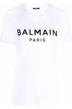 Balmain Naiset T-paidat - Logo-print short-sleeve T-shirt