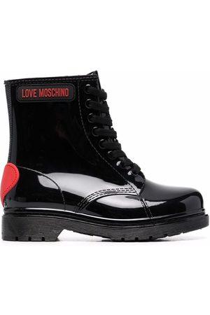 Love Moschino Naiset Nauhalliset saappaat - Heart-motif lace-up boots