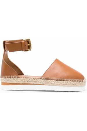 See by Chloé Naiset Espadrillot - Flat leather espadrilles
