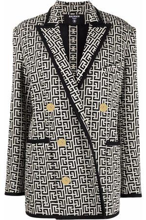 Balmain Naiset Bleiserit - Monogram jacquard knit blazer