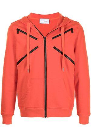 Ports V Päällystakit - Zip-embellished hooded jacket