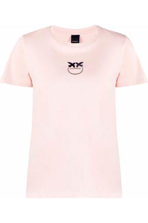 Pinko Naiset T-paidat - Logo crew-neck T-shirt