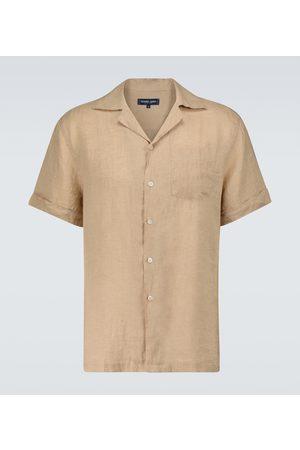 Frescobol Carioca Miehet Kauluspaidat - Thomas linen camp-collar shirt
