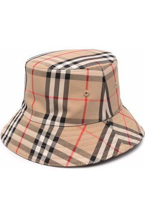 Burberry Hatut - Check-print bucket hat