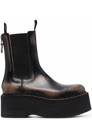 R13 Naiset Nilkkurit - Chunky-sole leather chelsea-boots