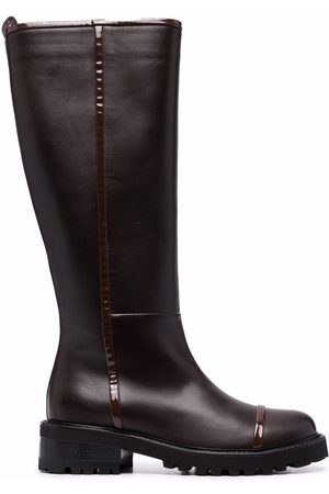 MALONE SOULIERS Naiset Ylipolvensaappaat - Leather knee-length boots