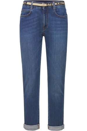 Stella McCartney Naiset Boyfriend - Cotton Denim Skinny Boyfriend Jeans