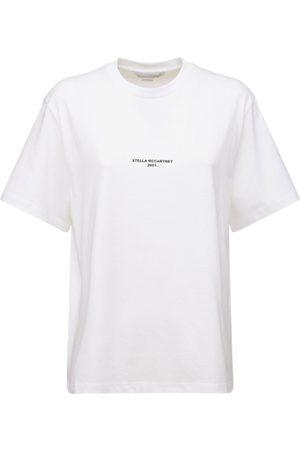 Stella McCartney Naiset T-paidat - Logo Organic Cotton Jersey T-shirt