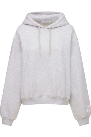 Alexander Wang Naiset Collegepaidat - Logo Stretch Cotton Sweatshirt Hoodie