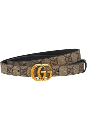 Gucci Naiset Vyöt - Gg Marmont Reversible Thin Leather Belt