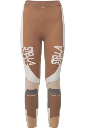 STELLA MCCARTNEY Sporty Logo Knit Leggings