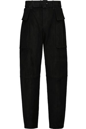 Stouls Butch high-rise slim suede pants