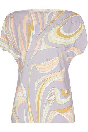 Emilio Pucci Naiset Pitkähihaiset - Printed silk-blend top