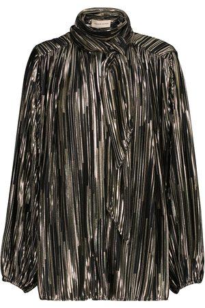 ALEXANDRE VAUTHIER Metallic tie-neck blouse