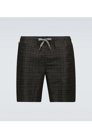 Burberry Martin checked swim shorts