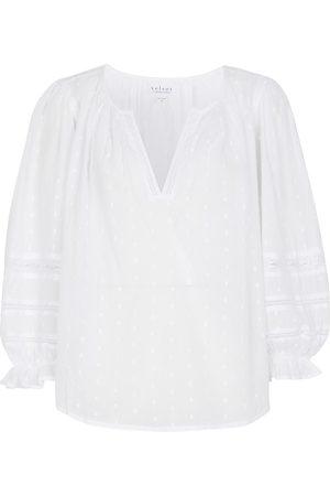 Velvet Imani cotton fil-coupe blouse