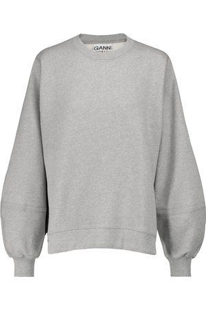 Ganni Naiset Pitkähihaiset - Cotton-blend sweatshirt