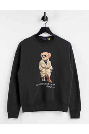 Polo Ralph Lauren Safari bear sweater in black