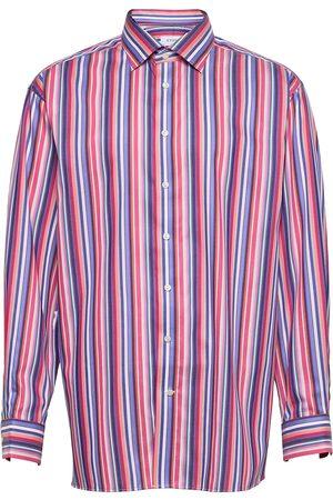 Eton Men'S Shirt: Business Fine Twill Paita Rento Casual Monivärinen/Kuvioitu