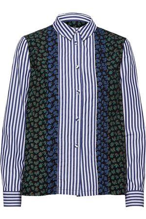 Wood Wood Catherine Block Print Shirt Pitkähihainen Paita Sininen