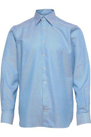Eton White Button Under Cotton Linen Shirt Paita Bisnes Oranssi