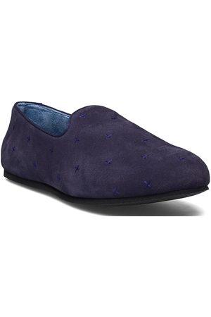 Hums Suede Cross Loafer Loaferit Matalat Kengät