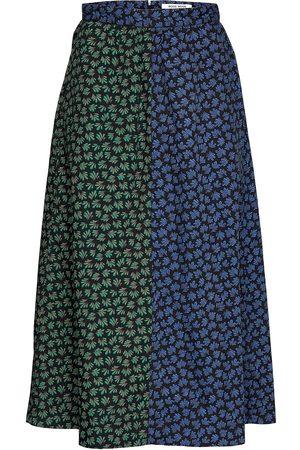 Wood Wood Sonja Block Print Skirt Polvipituinen Hame Sininen