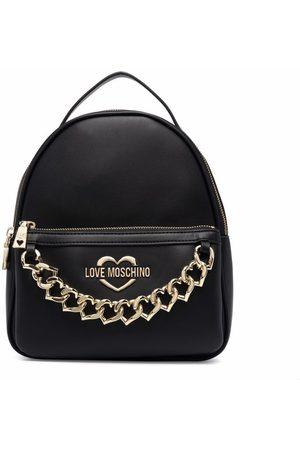 Love Moschino Heart chain backpack