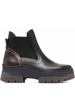 See by Chloé Chunky leather Chelsea boots