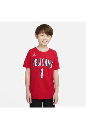 Nike New Orleans Pelicans Statement Edition Older Kids' NBA T-Shirt - Red
