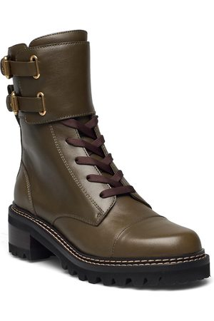 See by Chloé Combat Shoes Boots Ankle Boots Ankle Boot - Flat