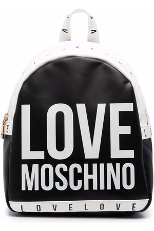 Love Moschino Naiset Reput - All-over logo print backpack