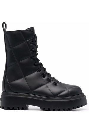 LE SILLA Naiset Nauhalliset saappaat - Quilted lace-up boots