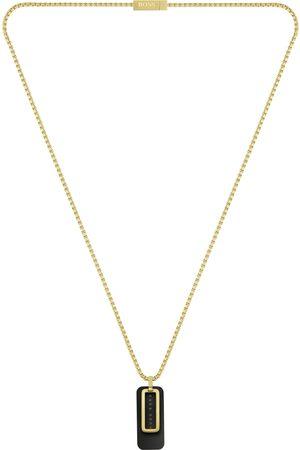 HUGO BOSS BOSS Double Pendant Necklace Gold