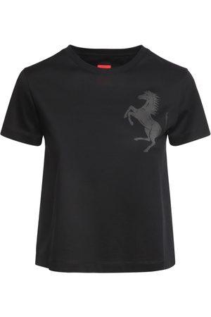 FERRARI Logo Cotton Jersey T-shirt