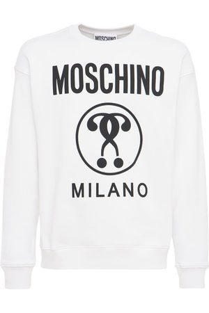 MOSCHINO Cotton Sweatshirt W/logo Print