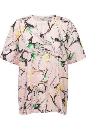 Stella McCartney Logo Marble Cotton T-shirt