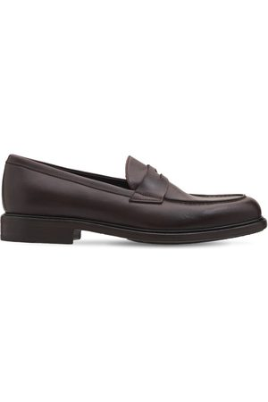 Pantanetti Miehet Loaferit - 30mm Leather Penny Loafers