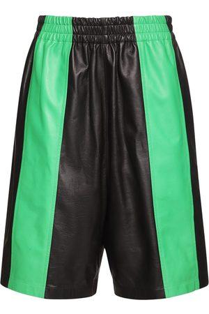 Bottega Veneta Waterproof Leather Shorts