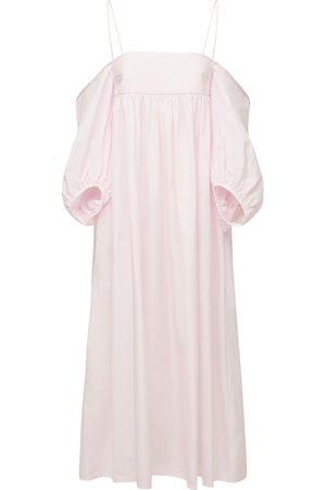 Cecilie Bahnsen Holly Off-the Shoulder Cotton Maxi Dress