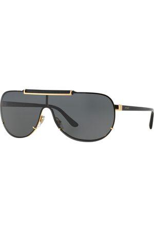 Versace Jeans Miehet Lippikset - Versace 2140 Visor Sunglasses Black