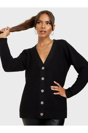 SELECTED Slfemmy Ls Knit Button Cardigan B Black