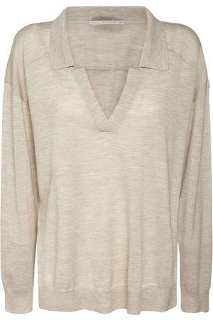 Stella McCartney Naiset Pikee - Wool Knit Polo Neck Sweater