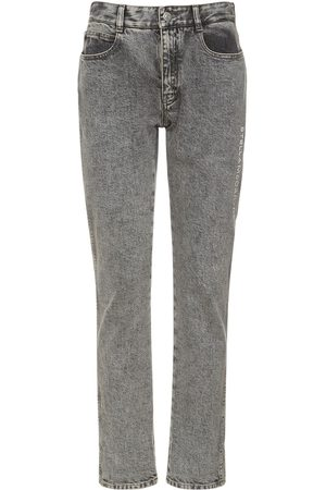 Stella McCartney Cotton Denim Embroidered Logo Jeans