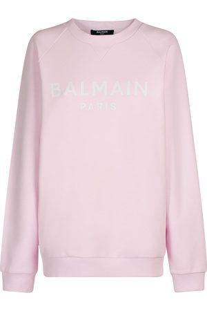 Balmain Logo Printed Organic Cotton Sweatshirt